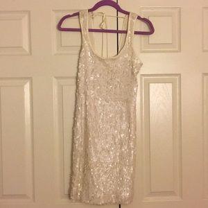 Ivory sequin dress